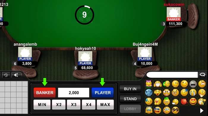 pilih taruhan banker atau player