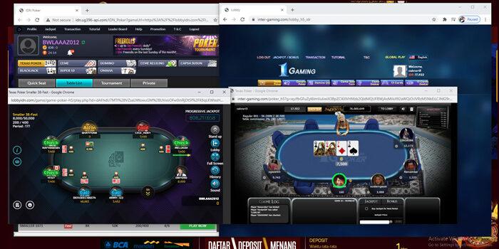 2 poker dalam 1 akun